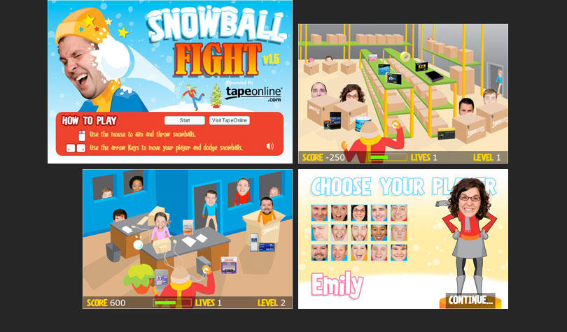 Snowball Fight Flash Game